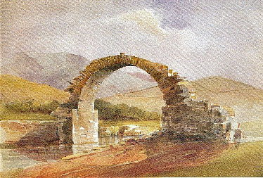 Traditional Stone Bridge in Andros