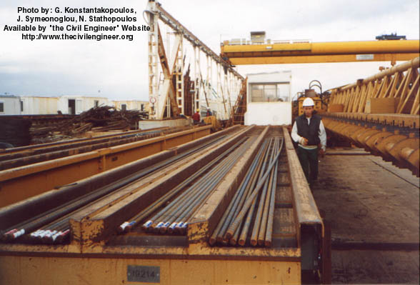 Rion-Antirrion bridge steel rods