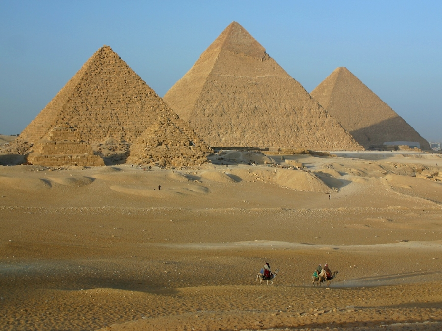 The Great Pyramids were completed in 2504 B.C.