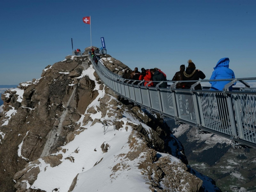 The bridge is free to everyone and offers views of 24 mountain peaks