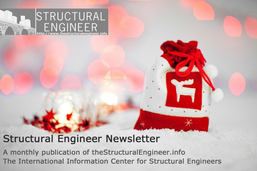 See now online the December issue of TheStructuralEngineer.info newsletter !