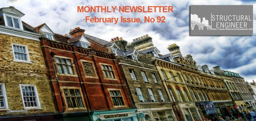 See now online the February issue of TheStructuralEngineer.info Newsletter !