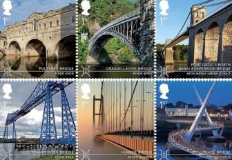 Six of the ten featured bridges
