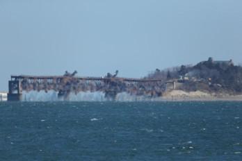 Boston Continues Demolition of Long Island Bridge