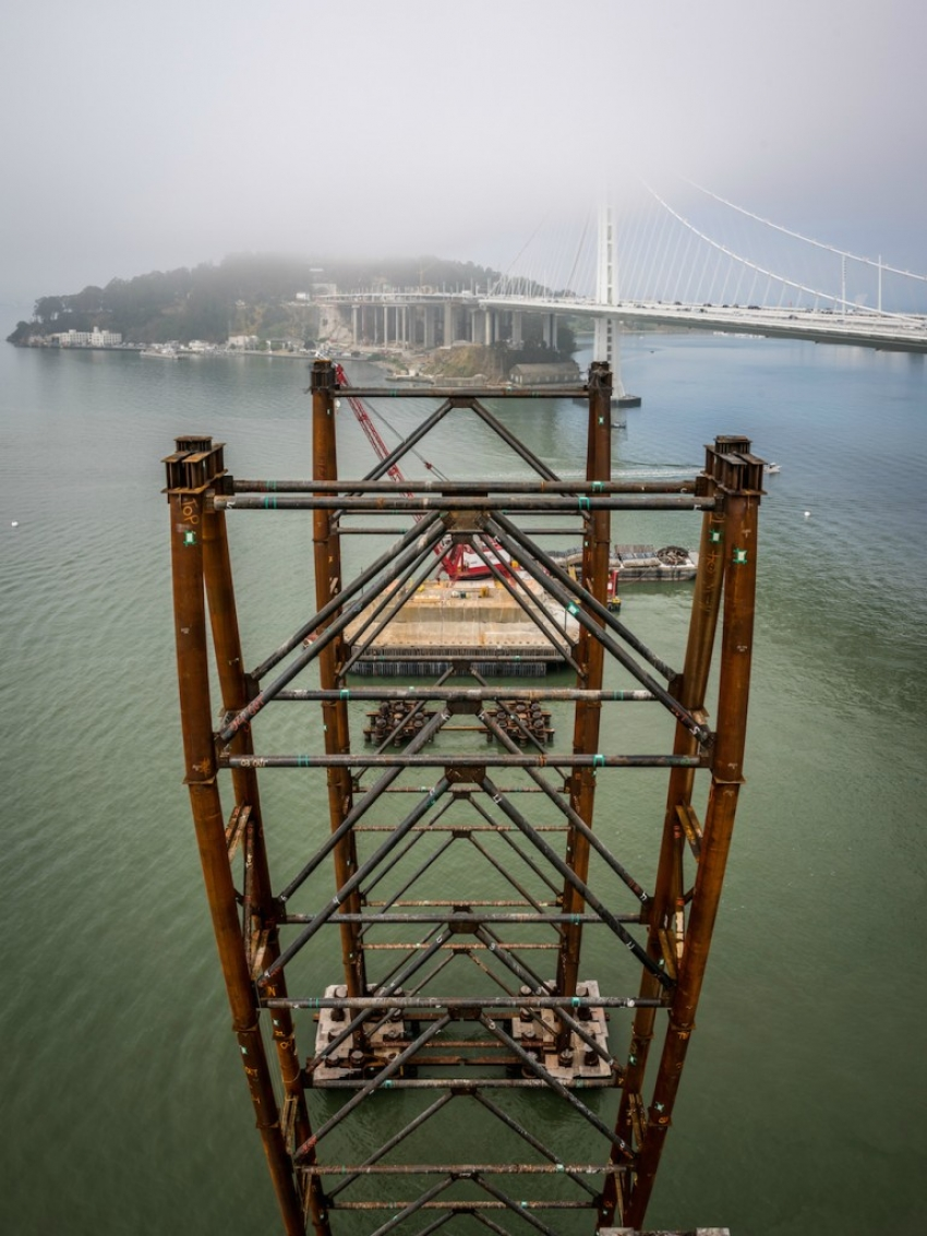 Demolition of the east cantilever of the historic Old Bay Bridge is complete.