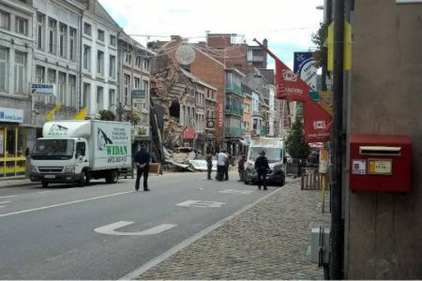 Building Collapsed Like A House Of Cards In Belgium