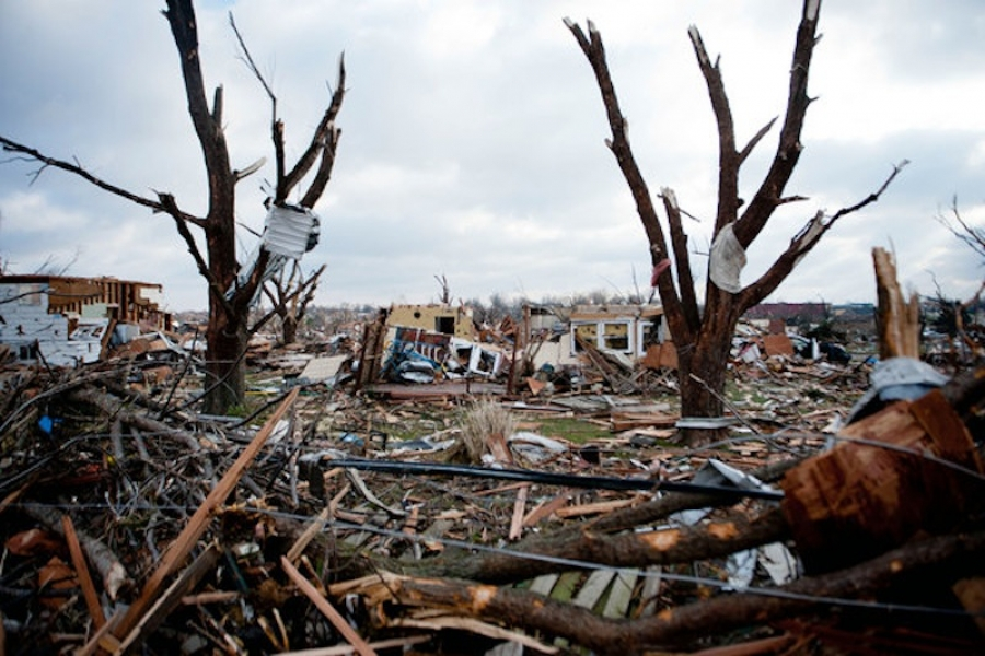 Hundred of homes were blown away by the tornado