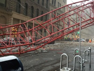 Crane Collapse in New York; 5 people injured