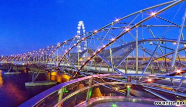 The Double Helix Bridge of Singapore; a must see for structural engineers!