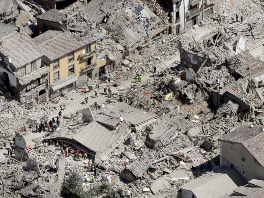 Italian earthquake of August, 24th devastates entire villages