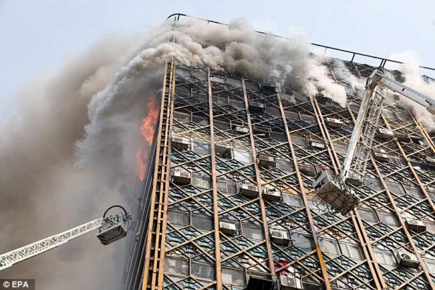 Tehran's Plasco building collapses after fire