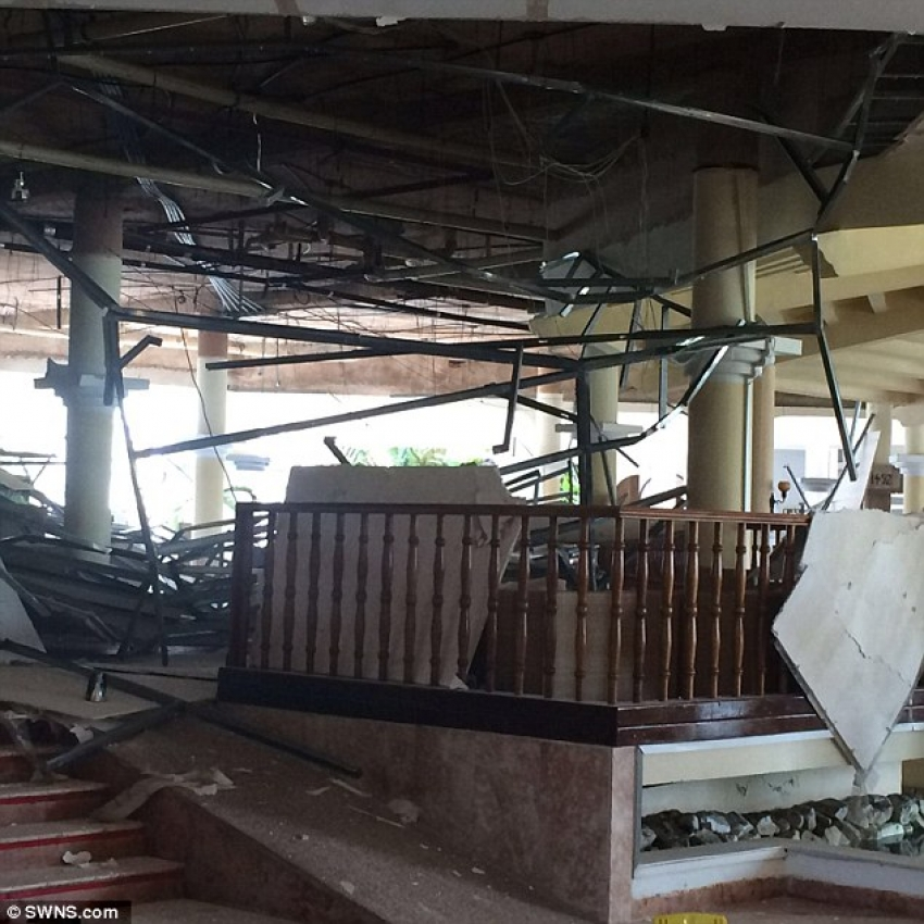 Hotel roof collapses during wedding rehearsal in Cuba