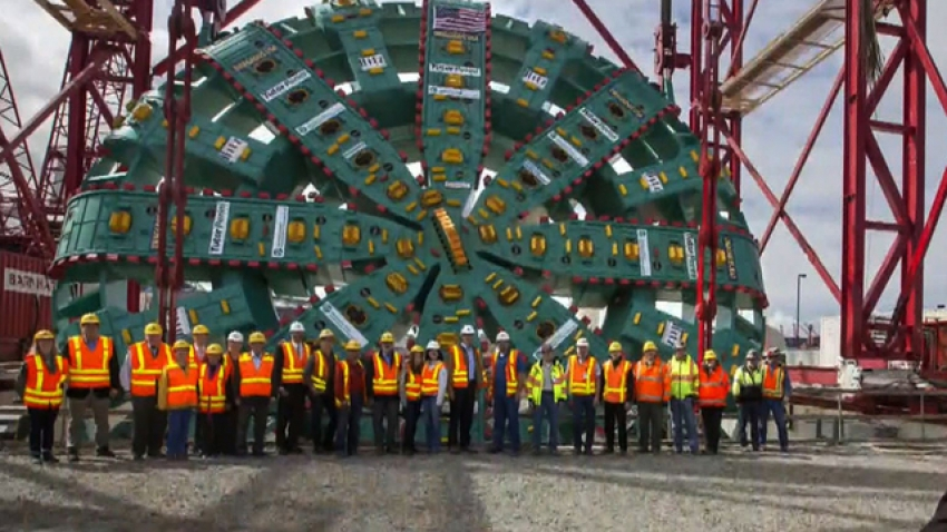 The largest tunnel boring machine (TBM) in the world finished drilling underneath Seattle