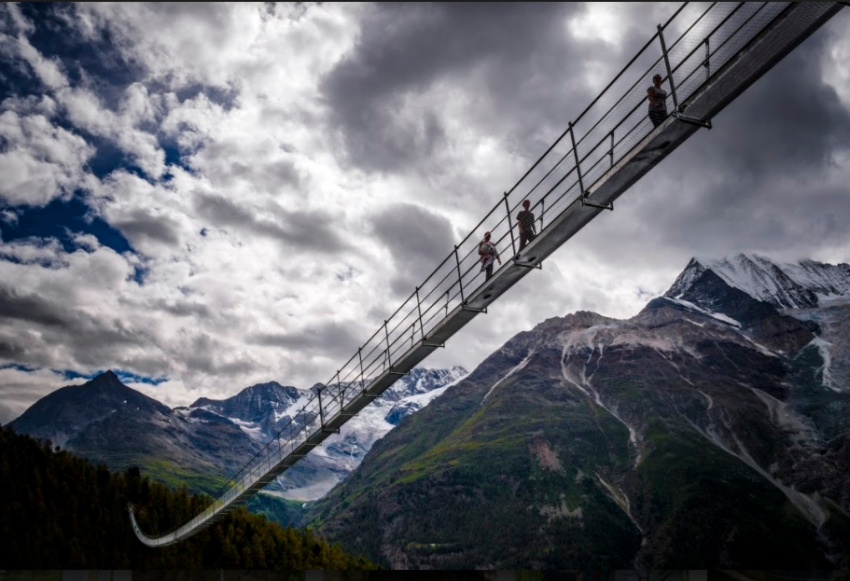 World's longest pedestrian suspension bridge just opened in Switzerland