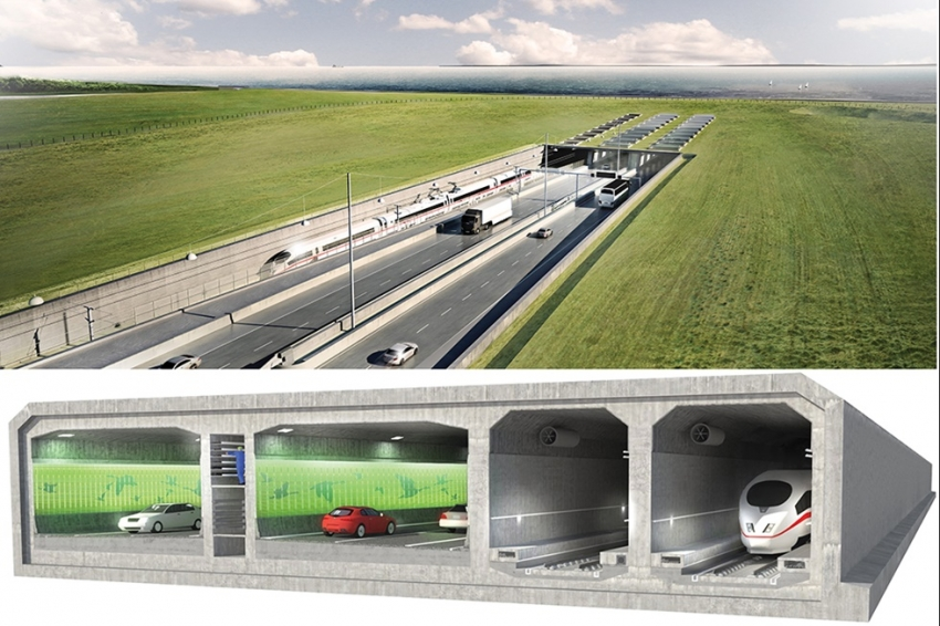 World's longest immersed road and rail tunnel also features remarkable design solutions