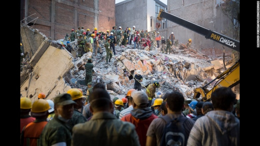 The powerful 7.1 magnitude quake in Mexico left more than 230 people dead and dozens of buildings collapsed