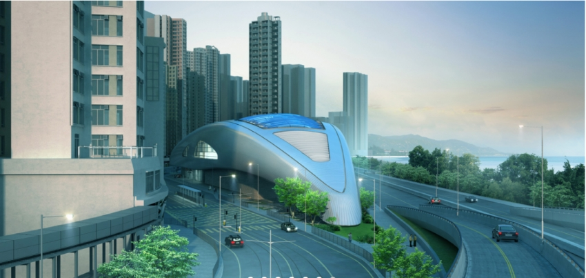 Hong Kong's new swimming complex has been likened to a futuristic spaceship