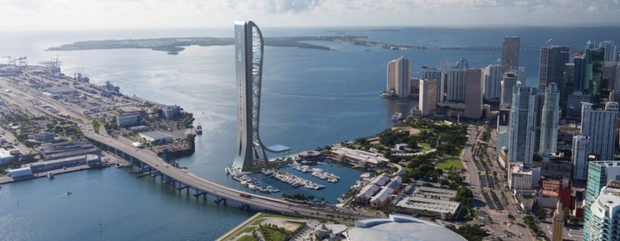 Rendering of proposed Miami observation tower