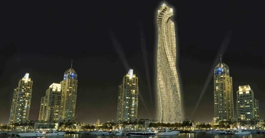 The world's first rotating skyscraper to be built in Dubai