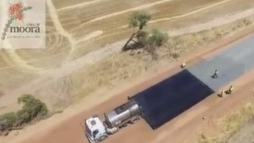Road construction footage goes viral (vid)