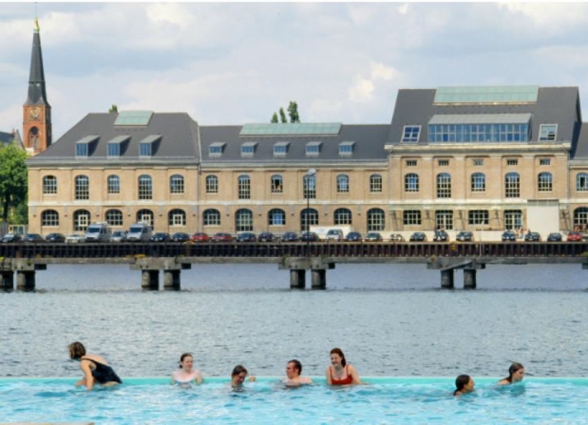 A floating pool in the River Spree, Berlin