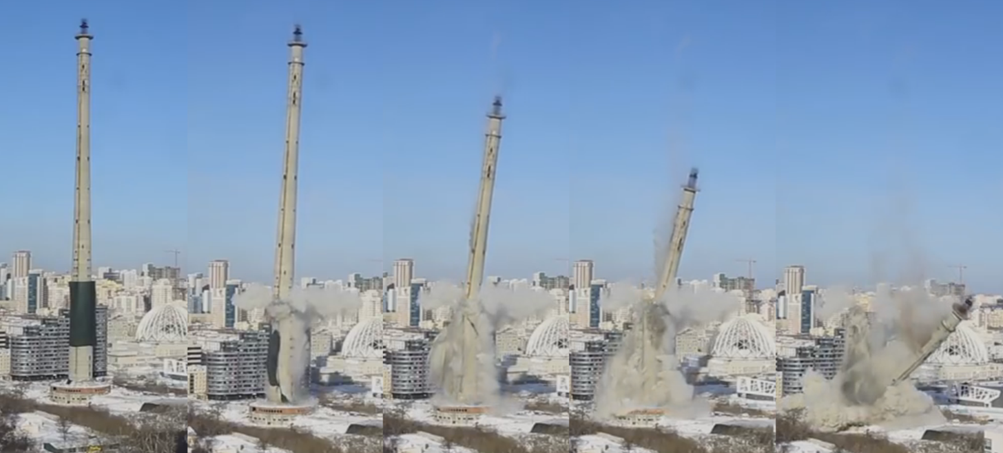 TV tower demolition Russia1