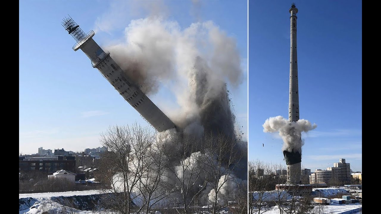 TV tower demolition Russia2