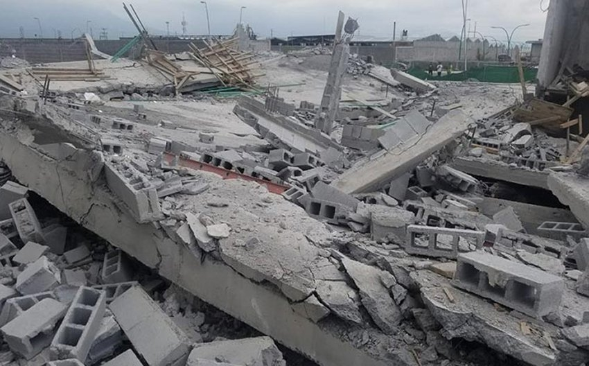 Building collapse in Mexico
