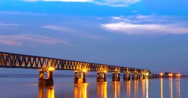 India's new advanced rail-road bridge opened