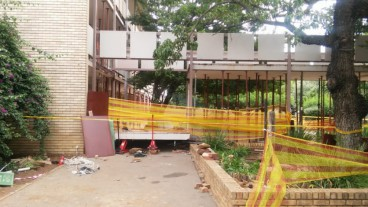 Walkway collapse in South Africa's school