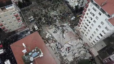 8-story building collapse in Istanbul