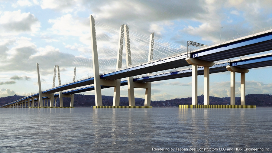 The New New York Bridge will be a 3-mile long dual span twin bridge