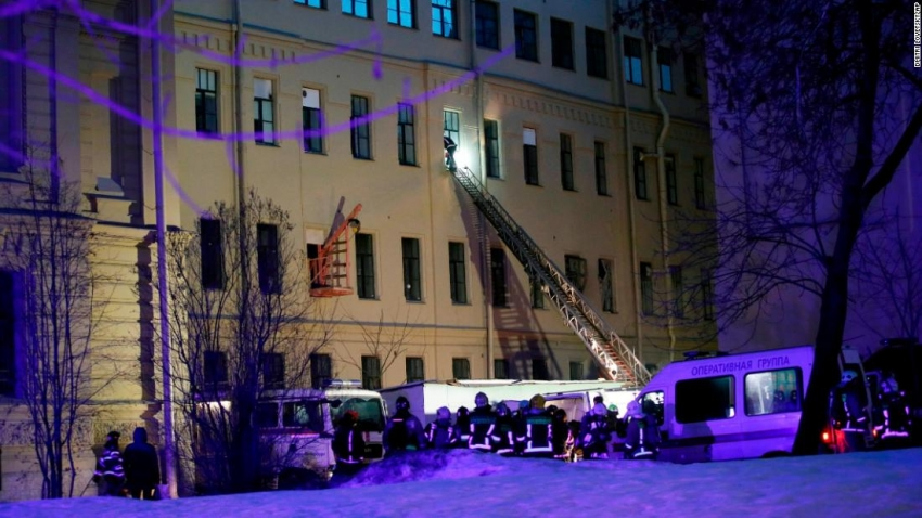 Building collapse in St Petersburg University, Russia-Source:CNN