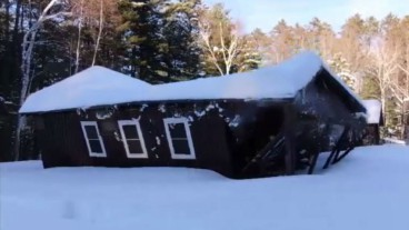 Northwoods camp building collapse caught on camera-Source: Channel3000.com