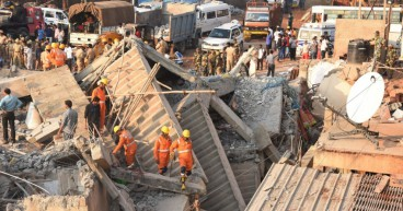 Building collapses in India At least 14 people dead
