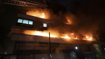 Fire explosion in Paris residential building