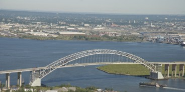 The Bayonne Bridge road will be raised from 151 feet to 215 feet above the Kill Von Kull strait