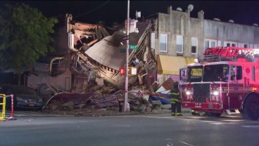 Building in Brooklyn collapses after being hit by car