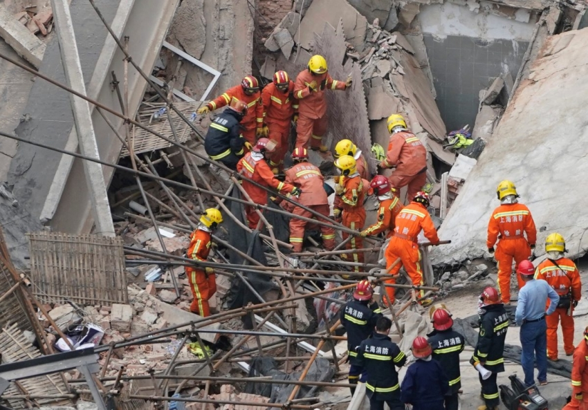 Building collapse in Shanghai: At least 5 casualties