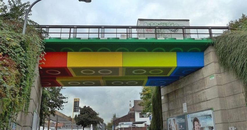 LEGO bridge in Germany by Megx