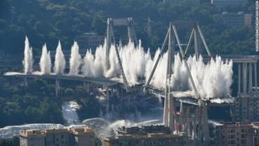Genoa's Morandi bridge demolished