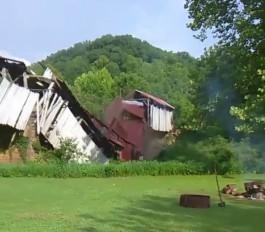 Historic bridge collapses in Ohio