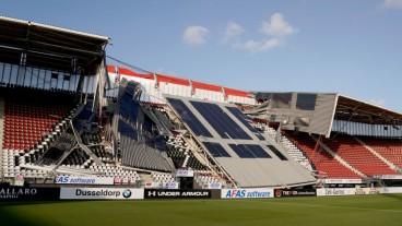 Roof collapse in Netherlands football stadium