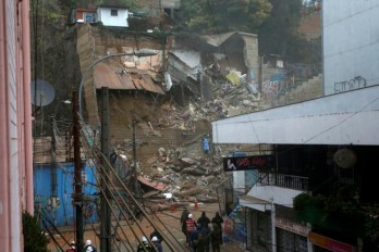 Two Houses collapsed in Chile