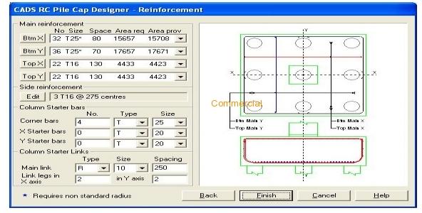 CADS RC Pilecap Designer