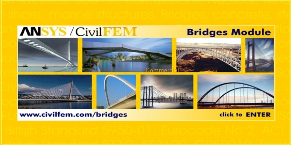 CivilFEM Bridges and Civil Nonlinearities for Ansys